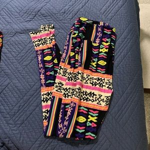 LulaRoe Size TC Leggings - Aztec Pattern